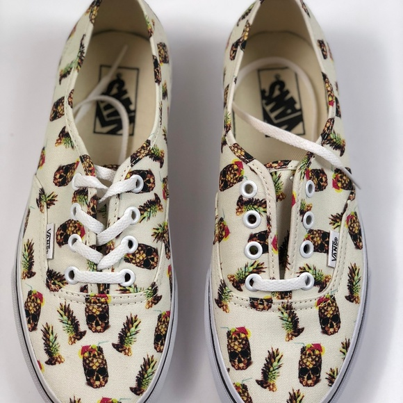 Vans Authentic Drained & Confused Shoes Mens Shoes White